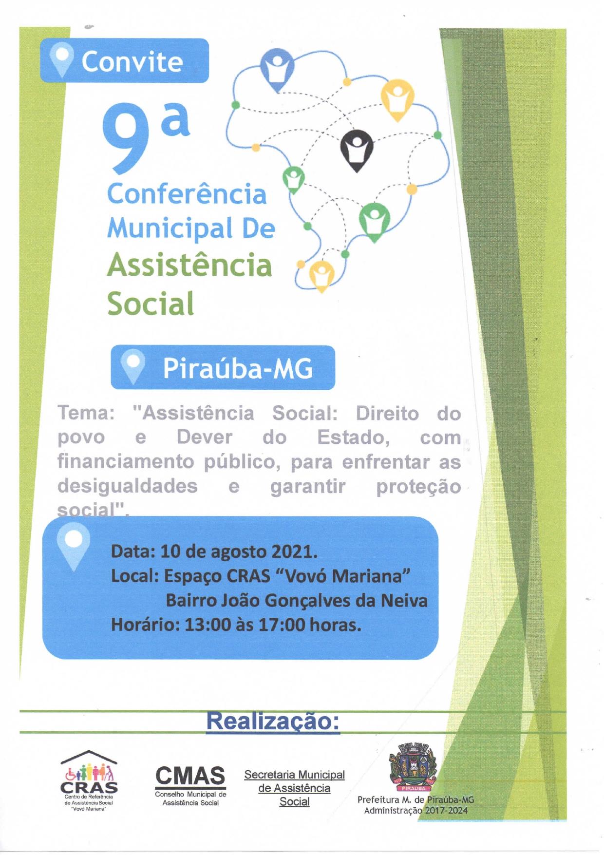 9ª Conferência Municipal De Assistência Social