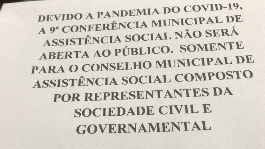 conferencia de assistência social